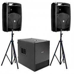 Location Kit Audio 1900W - 2 x V12A + SUB SW115A - PROEL
