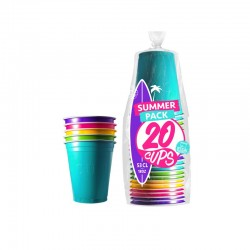 Gobelets Multicolor Summer 53cl. x 20 - Original CUP