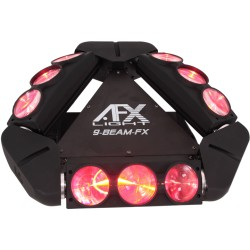 Location Spider LED 9-BEAM-FX - AFX Light