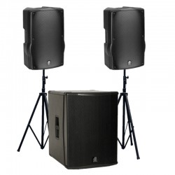 Location Kit Audio 2800W RMS - 2 x 912BL + 1 x SUB 18H - dBTechnologies